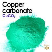 Kupfercarbonat - Keramikpigment elektrisch neongrün
