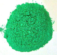 CUPRIC CARBONATE - Copper(II) Carbonate - Electric Neon Green - Ceramic Pigments and Stains