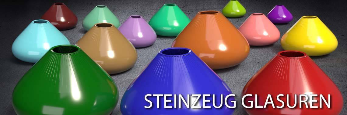 Die Steinzeugglasuren sind bleifrei und für Geschirr geeignet